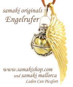 samaki originals die NEUEN Engelsrufer Sets Anhänger, Flügel, Seide, Silberketten Sterlinsgilber Schmuck in Harmonie www.samakishop.com