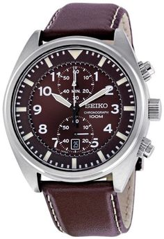 Seiko Men's SNN241 Chronograph Brown Dial Watch