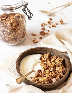 Granola Cereal, Granola Bars, Good Healthy Recipes, Healthy Snacks, Cooking Chef, Cooking Recipes, Breakfast Tea, Happy Foods, Diy Food