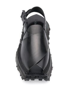 Acne Studios Buckle Crossover Sandals - Farfetch Acne Studios, Black Sandals, Men's Sandals, Designer Sandals, Calf Leather, Open Toe, Ankle Strap, Women Wear, Gucci