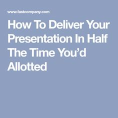 How To Deliver Your Presentation In Half The Time You'd Allotted Professional Development, Personal Development, Make Money From Home, How To Make Money, Financial Literacy, Freedom Financial, Job Security, Future Jobs, Income Streams