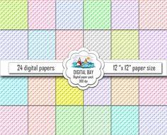 WICKER  Digital paper pack  Instant download  by DigitalBay