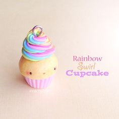 Hey guys! Here's a Kawaii Rainbow Swirl Cupcake! ✨ I think we should all just take a moment to appreciate how satisfying that swirl looks Btw, I have a tutorial on one of these cupcake which I uploaded around a year ago! Feel free to check it out Hope you like it! ✌ #polymerclay