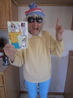That's just cute! Old lady costume