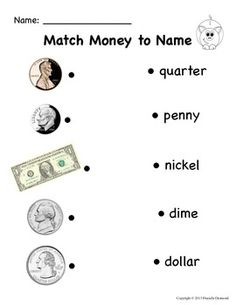 Printables Coin Value Worksheets money matching worksheets counting coin id and value for special education teacherspayteachers com