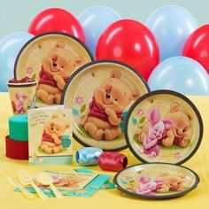 Baby Pooh And Friends Standard Party Pack For 16 - http://www.247babygifts.net/baby-pooh-and-friends-standard-party-pack-for-16/