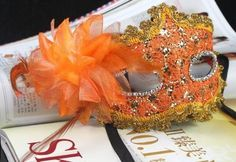 Orange Lace with Rhinestone Liles Venetian Mask Masquerade Halloween Costume from Y2B by mask, http://www.amazon.com/dp/B00CY5P4Z0/ref=cm_sw_r_pi_dp_Ep-Xrb129DFZC