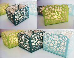 Stampin Up Windlicht Florale Fantasie Limette, Meeresgrün, Aquamarin
