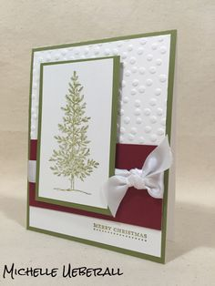 2015 Pals Convention Swap by Michelle Ueberall; Features: Lovely as a Tree, Teeny Tiny Wishes; #PMRetreat #Stampinup #Christmas