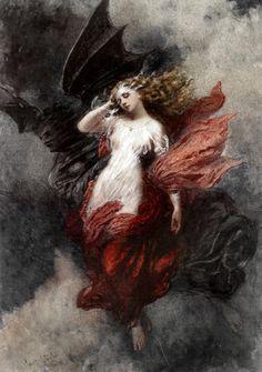 Renaissance Kunst, Renaissance Paintings, Ange Demon, Arte Obscura, Illustration Art, Illustrations, Arte Horror, Old Paintings, Classical Art