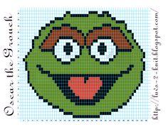 Sesame Street  Oscar the Grouch pattern By Luvs2knit