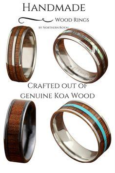 handmade wedding rings wood