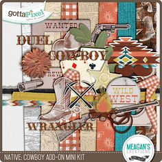 Native Add-On: Cowboy Mini Kit :: Pixel Club Full Daily Downloads :: Pixel Club :: Gotta Pixel Digital Scrapbook Store