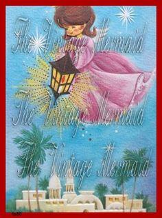 FABRIC BLOCK CHRISTMAS Nativity Vintage by thevintagemermaidcom, $5.99