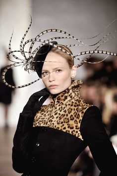 Ralph Lauren beret trimmed with pheasant feathers F/W 2008 ~ Love ~