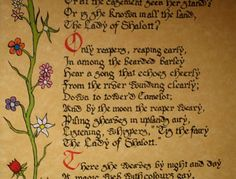 lady of shallot essay The lady of shallot- sir lancelot character analysis - sky essay example in section 3 of the poem 'the lady of shallot.