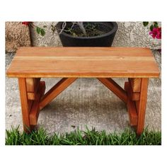 Outdoor Best Redwood Backless Picnic Table Bench - PBC-1711961905