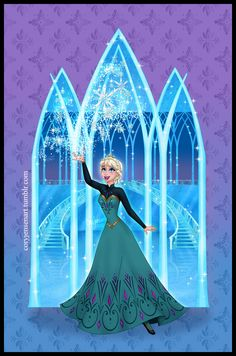 Cory's Art — Here is the final version of my Elsa and Anna...