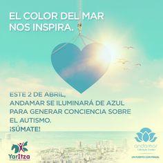 Nos unimos a la iniciativa de iluminar de azul los monumentos y edificios más emblemáticos del mundo en el Día Mundial de Concienciación sobre el Autismo. Te invitamos a conocer más sobre esta enfermedad y propiciar la integración de los niños con este padecimiento. #Andamar #PuertoConMagia