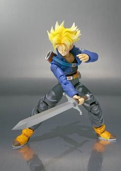 Kirin Hobby: Dragon Ball Z: Trunks SH Action Figure Figuarts pela Bandai…
