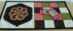 Fellowship of the Flowers Week 35 and our August project! Folk art fusion, wool felt, reverse wool applique, mug mats