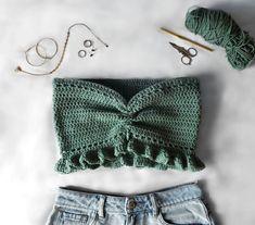 Bikini Crochet, Crochet Shirt, Crochet Crop Top, Mode Crochet, Diy Crochet, Crochet Crafts, Crochet Fashion, Diy Fashion, Sewing Clothes