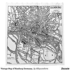 Vintage Map of Hamburg Germany (1911) Shower Curtain