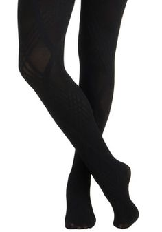 Line and Dine Tights, #ModCloth