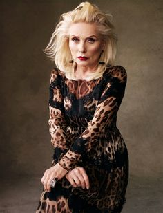 Debbie Harry Blondie (age 67) in leopard print dress for Vogue Spain May Issue 2013