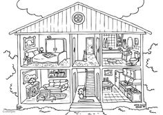 Barbie Dream House Coloring Pages from Barbie Coloring Pages Free and Printable. Barbie is a doll produced by the American company, Mattel, and was introduced in March The doll's maker, Ruth Handler, was inspired by a German . House Colouring Pictures, House Colouring Pages, Barbie Coloring Pages, Coloring Pages To Print, Coloring Book Pages, Free Coloring Sheets, Free Printable Coloring Pages, Coloring Pages For Kids, Kids Coloring