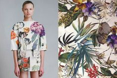 W I S F Match #202 Magdalena Frackowiak for Stella McCartney Resort 2011   Watercolour flower print
