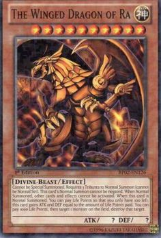 YuGiOh The Winged Dragon of Ra BP02-EN126 rare mosaic trading card