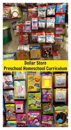 Dollar Store Preschool Homeschool Curriculum - Great list of what to buy at the Dollar Store to teach your preschooler without an expensive curriculum