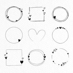 Obtain premium vector of Doodle love body assortment vector Most Footballers Have Valentines Day drawings For Breakfast The top is something that is dif, Bullet Journal Writing, Bullet Journal Ideas Pages, Bullet Journal Inspiration, Bullet Journal Frames, Watercolor Unicorn, Love Frames, Doodle Art, Doodle Frames, Heart Doodle