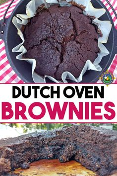 At that point You Must Make These Dutch Oven Brownies. Just 3 Simple Ingredients In This Eggless Brownie Recipe. Everybody Will Want Seconds Of This Camping Dessert Recipe Camping Desserts, Vegetarian Camping Recipes, Camping Meals, Backpacking Food, Camping Dishes, Camping Cooking, Family Camping, Camping Cabins, Camping Style