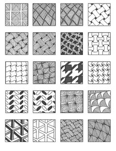 Tangle Patterns | grid 4 | Emily Perkins (enajylime on Flickr)