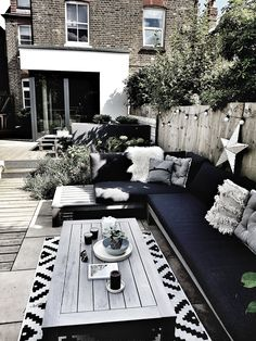 Home/Interiors Creating a Scandi Inspired Garden Seating Area — Malmo & Moss Landscaping Tips- the W Small Backyard Patio, Backyard Seating, Backyard Patio Designs, Patio Ideas, Seating Area In Garden, Budget Garden Ideas, New Build Garden Ideas, Back Garden Ideas, Very Small Garden Ideas