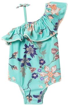 Baby Bun  infant Toddler Girls Swimwear One Piece NWT Hearts //Flowers//More