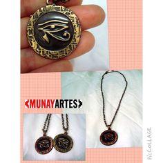 Colar Olho de Hórus  www.munayartes.com