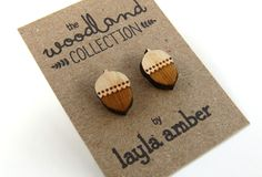 Woodland Acorn Earrings,