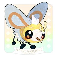 Cutiefly (not my art) Cat Pokemon, Pokemon Sketch, Pokemon Dragon, Pokemon Eeveelutions, Pokemon Fan Art, Charmander, Cute Pokemon Pictures, Pokemon Images, Chibi