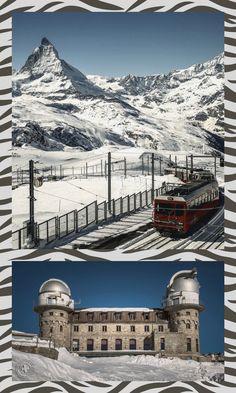 #Zermatt - #Gornergrat | #Matterhorn - Das #Kulmhotel und die Forschungsstation ... Hello #Wallis #Valais | #Gornergratbahn Zermatt, Wallis, Swiss Switzerland, Walking Holiday, Northern Italy, Yearning, Travel Memories, Us Travel, Adventure Travel