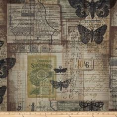 Tim Holtz Eclectic Elements Melange Neutral Fabric By The Yard