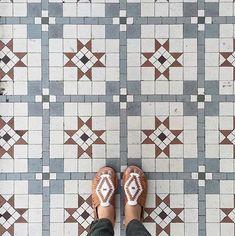 Our Favorite Floors: 25 Reasons to Look Down – Design*Sponge Tiles Texture, Texture Design, Tile Patterns, Textures Patterns, Unique Flooring, Unique Tile, Natural Area Rugs, Tile Design, Accent Colors