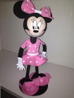 Minnie and Mickey Mouse Fofuchas handmade dolls by maribelgalvan, $18.00