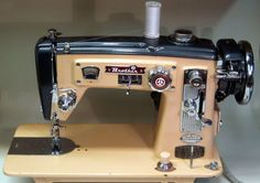 MI Vintage Sewing Machines: Brother Select-O-Matic (1957) He cleaned up a vintage Brother machine that looks like my Wizard
