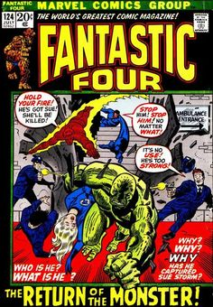 Fantastic Four #121. The return of the monster.  #FantasticFour