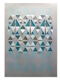 Graphite, Teal and Vellum Geometric Papercut. £38.00, via Etsy, Sarah Louise Matthews.