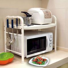 How to Build a Safe Kitchen Counter Design Might be useful in a small kitchen/low counter space Small Kitchen Organization, Kitchen Hacks, Diy Kitchen, Organizing Kitchen Counters, Small Kitchen Decorating Ideas, Kitchen Storage Hacks, Diy Organisation, Kitchen Cart, Storage Organization