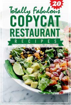 Restaurant Copycat Recipes - 20 Impossibly Identical Copycat Restaurant Recipes